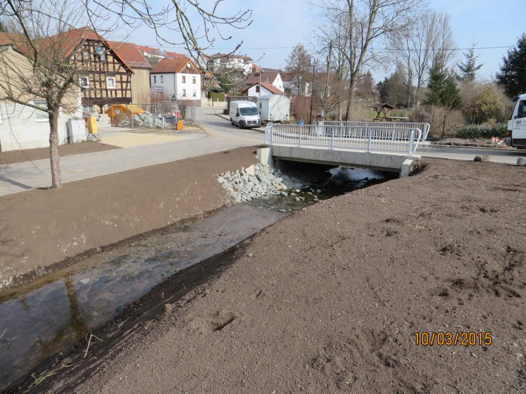 Stahlbetonbau – Baustelle: Brücke Wolfsgefährt